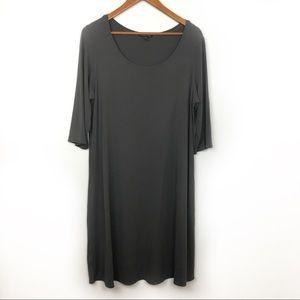 Eileen Fisher Gray Shift Dress, viscose blend